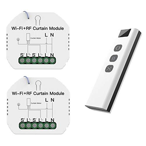 Youmine MóDulo de Interruptor de Cortina de Persiana Enrollable WiFi RF Tuya con Interruptor de Cortina Inteligente WiFi Remoto Control de AplicacióN Tuya