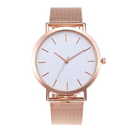ZWH Moda Mujeres Relojes Simple romántico de Rose Reloj de Oro de Las Mujeres del Reloj de señoras del Reloj del relogio Feminino Reloj Mujer Dropship (Color : Rose Gold)