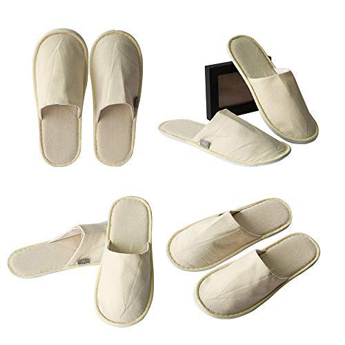 Limeow Zapatillas de Lino Desechables Zapatillas Desechables