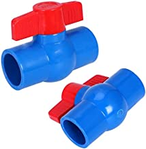 LHQ-HQ 40mm x 40mm slip volledige haven rode handgreep hendel U-PVC kogelklep blauw