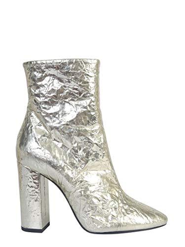 Saint Laurent Luxury Fashion Damen 5864641F8007100 Gold Polyurethan Stiefeletten | Herbst Winter 19
