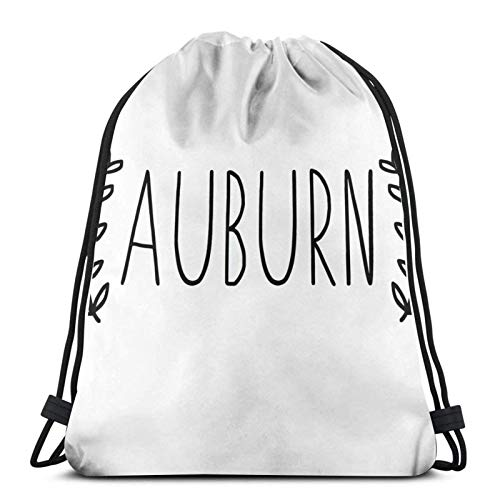 Cinch Bags Auburn Leaves Men Gym Sack Anime Drawstring Backpack Printed Travel Gym Unique Sport Bag Cinch Pack Durable Sport Shopping Drawstring Bags Lightweight Casual Outdoor Wom