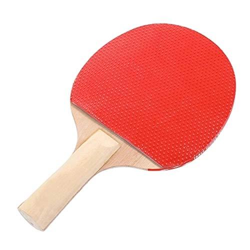 Lwieui Ping-Pong Paddel Tragbare einziehbare Pong Post Net Rack Pong Paddles Qualitätstisch Tennisschläger Set Shake Hands Grip (Farbe : Red, Size : One Size)