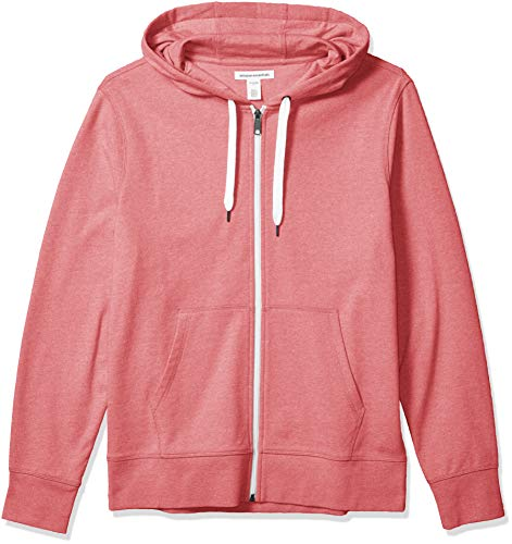 Amazon Essentials Sudadera Ligera de Felpa Francesa con Cremallera Completa Fashion-Hoodies, Rojo desteñido, US M (EU M)