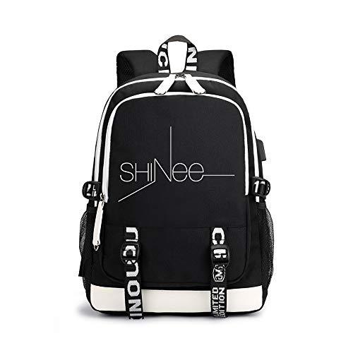 Shinee Rucksäcke Hochwertiger Stoff Leichter Sportrucksack Hochwertiger Casual Rucksack Shinee Backpacks (Color : Black04, Size : 30 X 15 X 43cm)