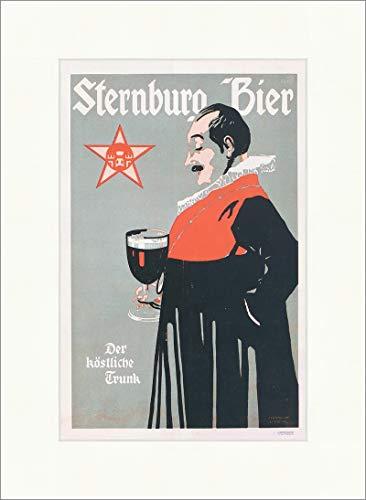 Kunstdruck Sternburg Bier Bergmüller 1900 Brauerei Leipzig Plakatwelt 192