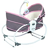 Kinfant Multifunctional Rocking Bassinet Lightweight Portable Travel Bed Crib with Music and Toys for Infant/Baby Boy/Baby Girl/Newborn