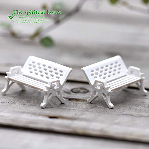 Oulensy Accessoires de décoration 3 pcs de Haute qualité Mini Ornement de Jardin Miniature Parc Banc Siège Craft Dollhouse Fée