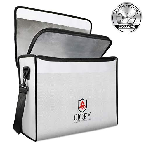 Fireproof Document Bags - Fireproof Box [Thermal Insulated] Fireproof Safety Boxes for Home Large Fireproof Bag Lockable Zipper Fireproof Safe Box Home Safes Fireproof Waterproof Fireproof Money Bag