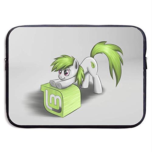 shenguang Anime My Little Rainbown Pony Funda para portátil Bolsa de 13 Pulgadas Funda para Ordenador Maletín para Tableta Ultra portátil Protector