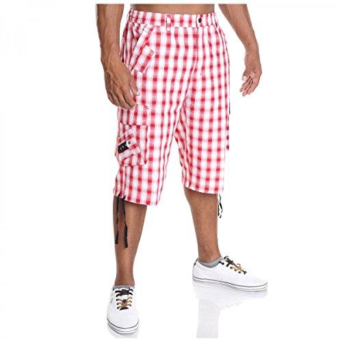 BEZLIT Herren Cargo Bermuda Hose Kurz Shorts Pasteur Capri Casual H2073 Rot Größe L