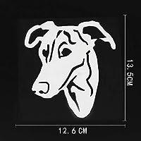 ステッカー剥がし 12.6CMX13.5CM グレイハウンド犬のカーステッカービニールステッカーブラック/シルバー ステッカー剥がし (Color Name : Silver)