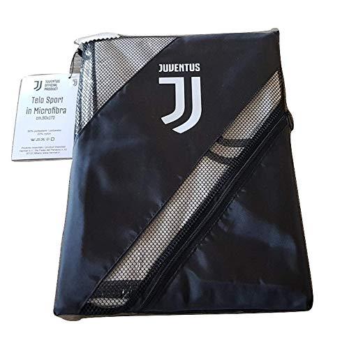 Sfiziosa Telo Sport Juventus in Microfibra 90x170 con Busta portaoggetti per la Piscina o Il Mare