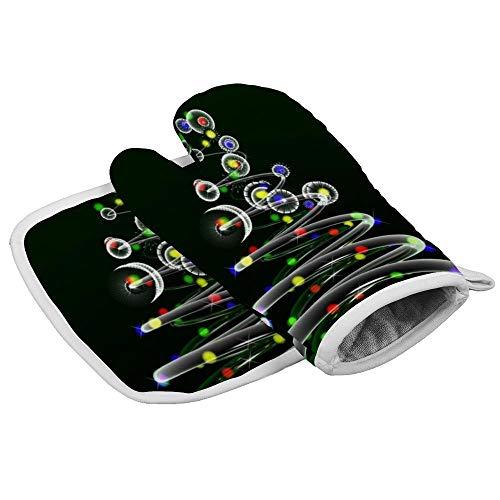 Yutess Hittebestendige geïsoleerde oven wanten pannenlappen Keuken Oven Handschoenen voor het bakken BBQ Grilling Kerstboom slingers vakantie {Aangepast, Gepersonaliseerd}
