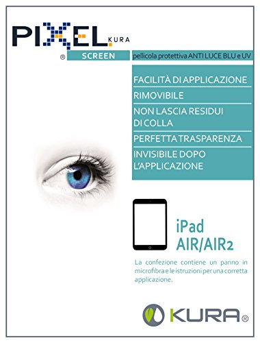 Pellicola PIXEL SCREEN, Filtro per Monitor, Test Università di Torino, Anti Luce blu e uv e Antiriflesso, Anti Graffio e no Bolle, Massima Trasparenza