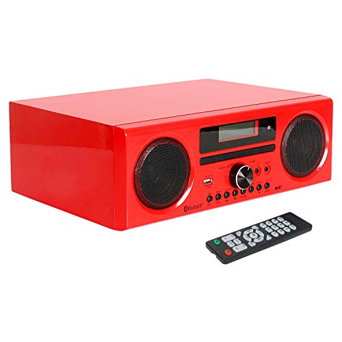 DLITIME DAB+/FM DSP Radio HiFi Lettore CD Altoparlante Bluetooth 2 * 15 W Supporto AUX IN/USB/Registrazione Display LCD con Telecomando
