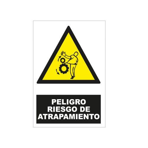 S21 Señalización ADR2280.G Señal peligro riesgo de atrapamiento, Multicolor