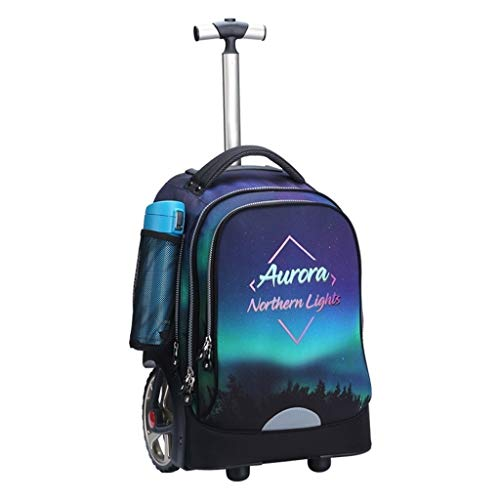 LYRWISHLY Kids Trolley Bag with Wheels - Child School Wheeled Luggage Bag Trip Zipper Backpack for Boys Girls Children Student,Multifunction Wheeled Backpack Luggage (Size : F)