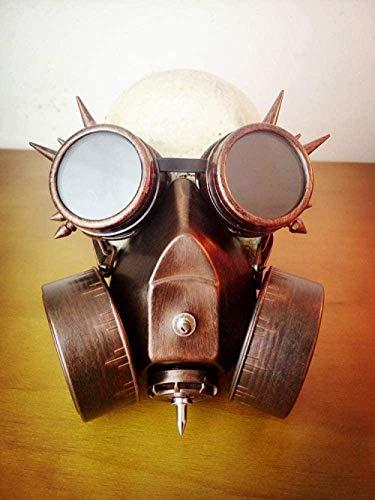WYZDJ Co.,ltd Halloween Mask Steampunk Mask Steampunk Fancy Dress Costume Biohazard Steampunk Glasses Spikes Skeleton Warrior Death Mask Masquerade Cosplay Halloween Costume Props Gold