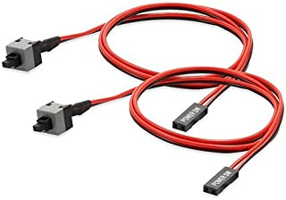Electop 2 Pack 2 Pin SW PC Power Cable On and Off Push Button ATX Computer Switch Wire 45cm