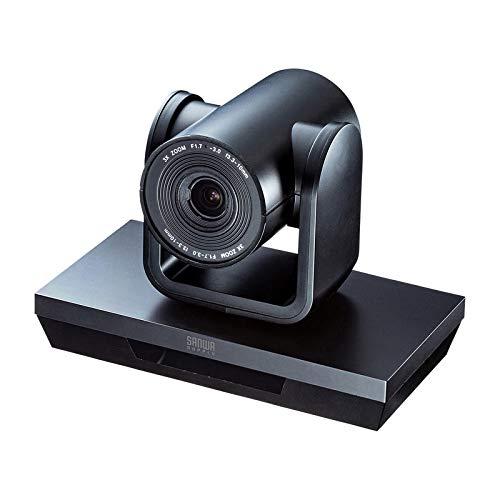 サンワサプライ WEBカメラ 3倍ズーム搭載 Skype スカイプ Zoom ズーム フルHD 210万画素 ブラック 会議 CMS-V50BK