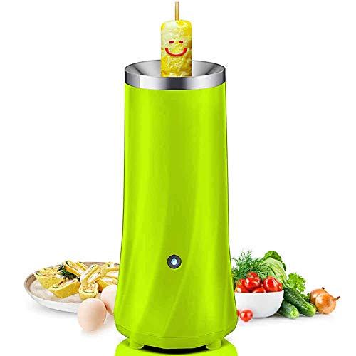 GAYBJ Einrohr-Automatik Multifunktions Egg Roll-Maschine elektrische Eierkocher Omelette Meister Wurstmaschine Frühstücksei Werkzeug,Grün
