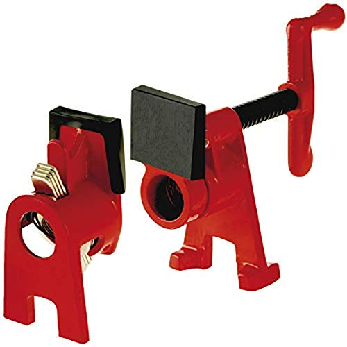 Bessey BPC-H34 3/4-Inch H Style Pipe Clamp, red