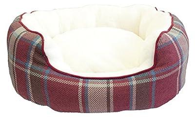 Festive Collection de Navidad Oval cama para perros,