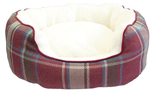 Festive Collection de Navidad Oval Cama para Perros, pequeño/Mediano