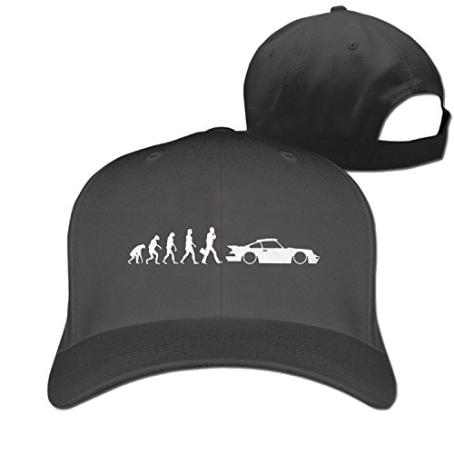 Huseki PEvolution of porsche 911 Truck caps Cool Men Women hat Black (5 colors) Black