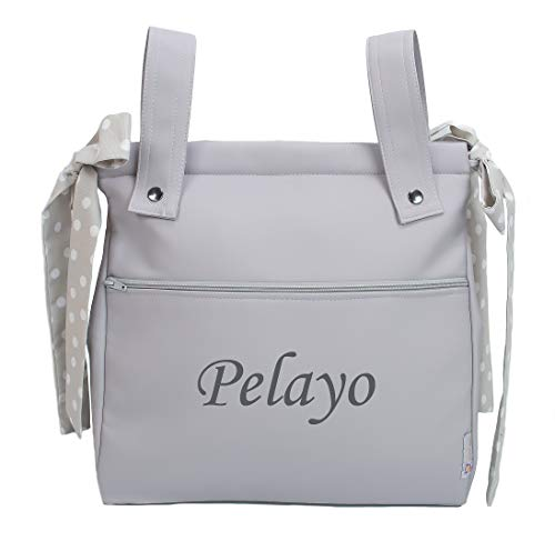 Einkaufstasche für Kinderwagen, Kinderwagentasche, Kinderwagen Organizer oder Tasche Brotkasten. Harper. Verfügbar in meherere Farbene. (Grau)