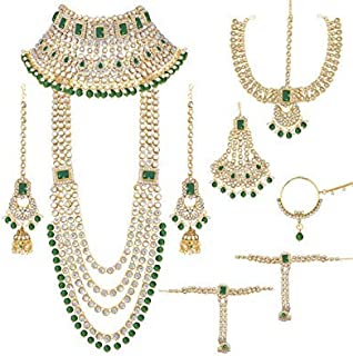 fcab4f8f50 I Jewels Traditional Ethnic Indian Kundan Dulhan Bridal Jewellery Set for  Women (BLP020G)