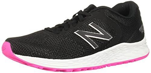 New Balance Women's Fresh Foam Arishi V2 Running Shoe, Black/Peony, 9 M US