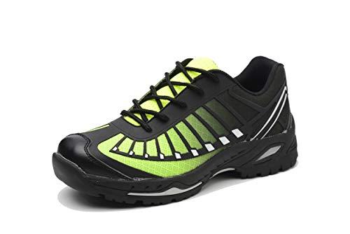 Wasnton Unisex Hombre Mujer Zapatillas de Seguridad con Punta de Acero Antideslizante...