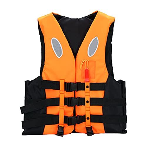 Shhyy Chaleco De Snorkel Niños Adultos Hombres Y Mujeres Kayak Chaleco De Flotabilidad Chaleco De Flotabilidad Portátil Buceo Surf Natación Deportes Acuáticos Al Aire Libre,Naranja,XXXL