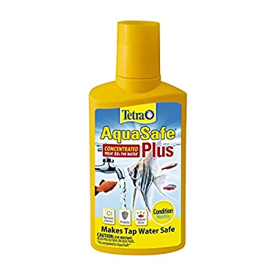 Tetra AquaSafe Plus 33.8 Ounces, aquarium Water Conditioner And Dechlorinator, Model:16163