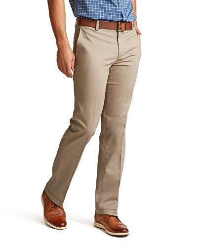 Dockers Men's Straight Fit Signature Lux Cotton Stretch Khaki Pant, Timber Wolf - creased, 32W x 32L