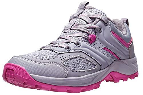 CAMEL CROWN Zapatillas de Senderismo para Mujer Antideslizantes Zapatillas de Trekking Montaña Transpirables Zapatillas de Seguridad Zapatos de Trabajo AL Aire Libre Deporte Rojo Negro 39