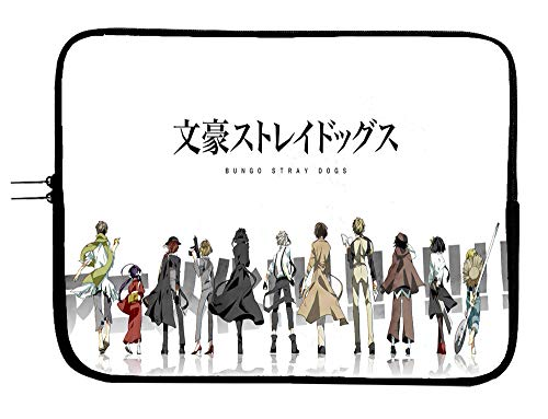 Bungou Stray Dogs Anime Laptop Notebook Case Sleeve Bag 13 13.3' Mac Book Pro/MacBook Air Surface Pro Laptop/Tablet Water Repellent Neoprene Cushioned Case Figurine