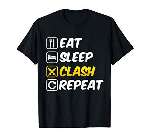 Eat Sleep Clash Repeat Shirt I Mobile Gaming Tee T-Shirt