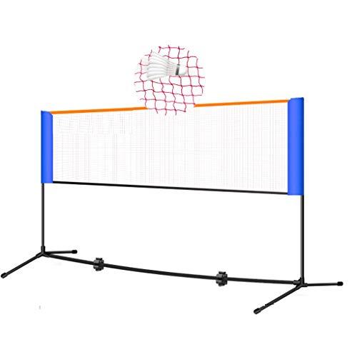Netze & Garnituren Badminton Badminton-Netzständer Tennisständer Outdoor-Sport- und Fitnessgeräte Klappnetzpfosten kurzer Tennisschläger (Color : Black, Size : 300 * 155cm)
