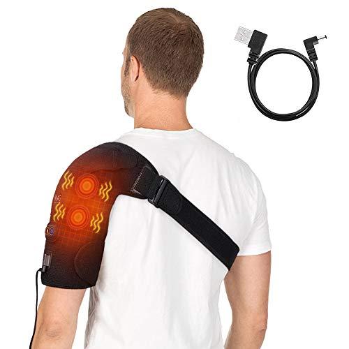 Hombrera Tendinitis con Función de Calor y Vibración, Calefacción de Hombrera Ajustable, Terapia de Calor del Hombro para Dolor de Artritis, Hombro Congelado, Hursitis del Manguito Rotador