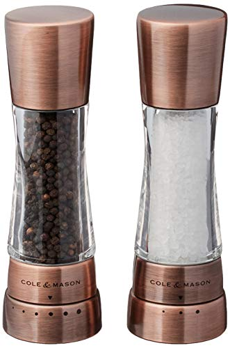 Cole & Mason Derwent Gourmet Precision Copper Salt and Pepper Mill Set with...