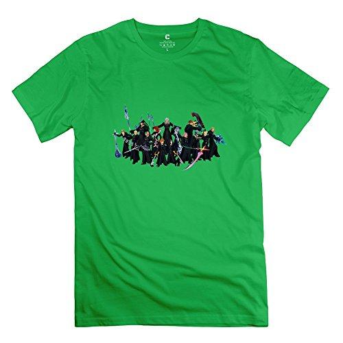 TEC&KIM Kingdom Hearts ? Geek Short-Sleeve T Shirts for Mens