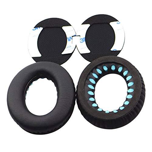 Deylaying Almohadillas de Reemplazo Cojines para Bose QuietComfort 35/QC 35II/QC 25/QC 15/QC 2/SoundTrue/SoundTrue II/SoundLink AE/AE2/AE2W - Orejeras Auriculares Earpads (Negro Oreja Paño w/o RL)