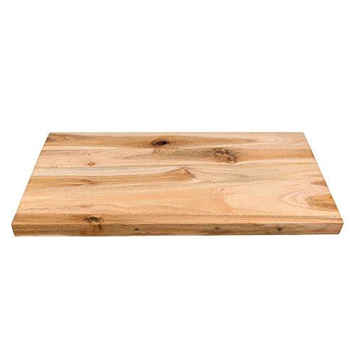 wohnfreuden Teak Holz Waschtischplatte Unterschrank Naturstein Waschbecken Gr. M ca. 80x42x4 cm