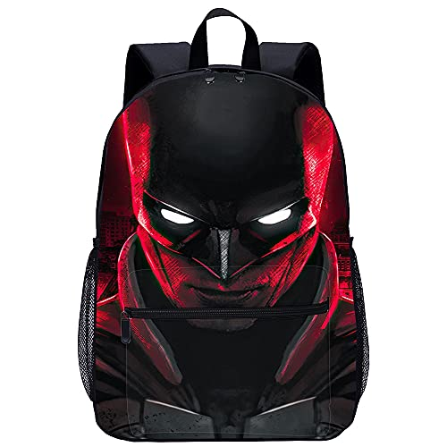 Pxiaohong 3D-Gedruckter Rucksack The Batman Reiserucksack Ultraleichte Schultasche, Unisex, Langlebig, Praktisch Für Reisen Und Outdoor-Sport