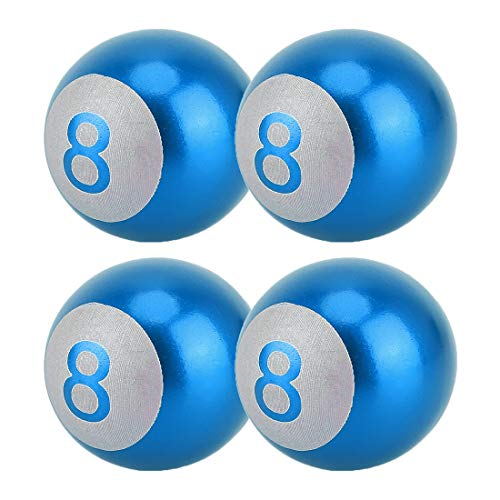 Autoreifenventilkappe Ball Nummer 8 Gas Cap Mundstück-Abdeckung Reifen Kappen-Auto-Reifen Ventilkappen Auto...