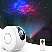 Kids Night Light, Remote Control Laser Star Projector with LED Nebula Galaxy & 360° Rotation & 7 Colours for Christmas Gift/Room Decor/Home Theatre/Game Rooms/Star Sky Night Light Ambiance(White)