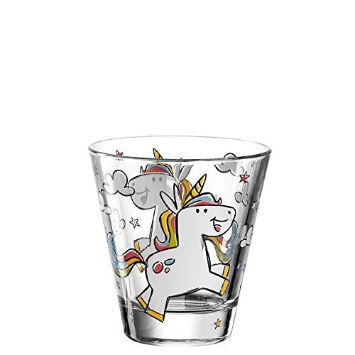 Leonardo Bambini Trink-Glas, Kinder-Becher aus Glas mit Tier-Motiv, spülmaschinengeeignetes Saft-Glas, 1 Stück, 215 ml, 017902